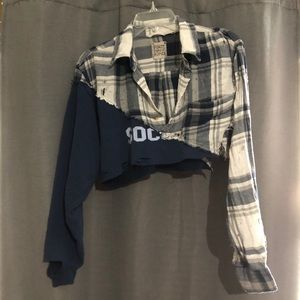 LF vintage two shirt cropped sweatshirt